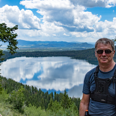 Mike with Phelps Lake