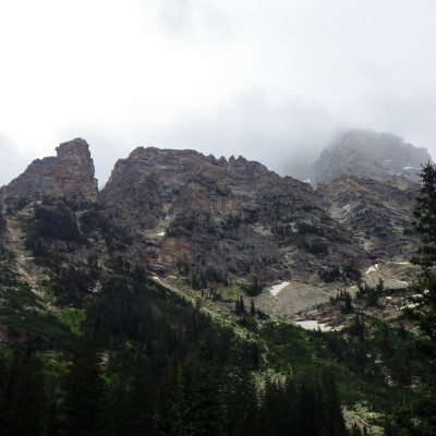 view from Cascade Canyon Campsite