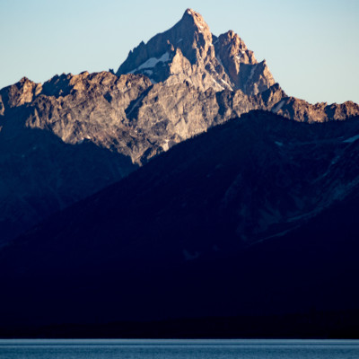 Grand Teton at Sunset (with The Enclosure to the right)