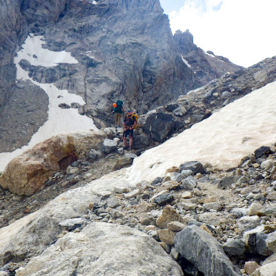 Day 1 climb to Lower Saddle