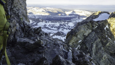 View of Death Canyon shelf, Alaska Basin, Battleship Mountain